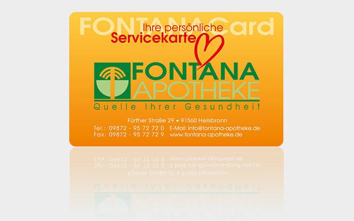 Die Fontana Card der Apotheke Heilsbronn - Die Quelle Ihrer Gesundheit
